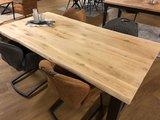 Eichen Baumstamm Tisch