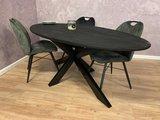 Esstisch Oval mango schwarz_