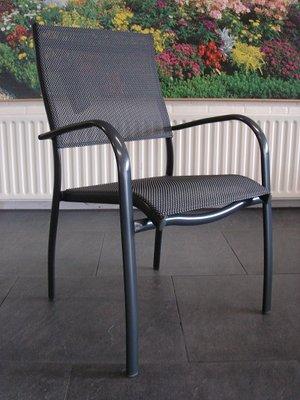 Bellagio Esino Dining stapelbarer Gartenstuhl aus Aluminium