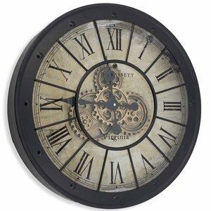 Uhr Zahnrader Schwarz