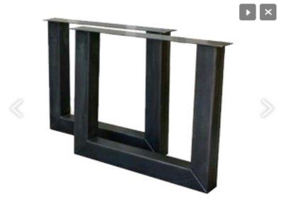 Tischbein Stahl model U